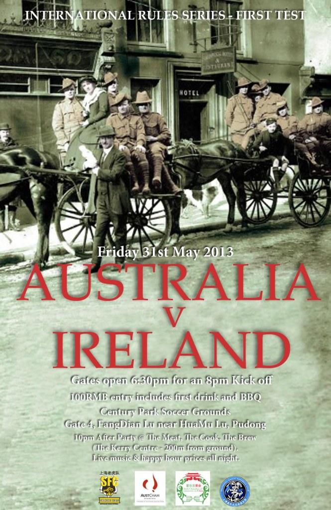 Australia V Ireland Poster_31st May
