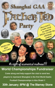 Shanghai GAA Father Ted Night flyer